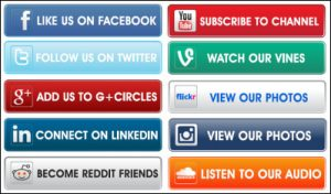 Examples of calls to action for different social media platforms.